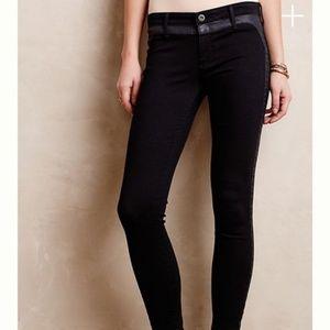 AG The Jackie Tuxedo Super Skinny Black Jeans 29